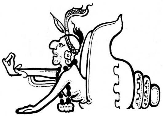 Dibujo Maya Para Pintar Y Colorear Mam Colorear Mayas Dibujo