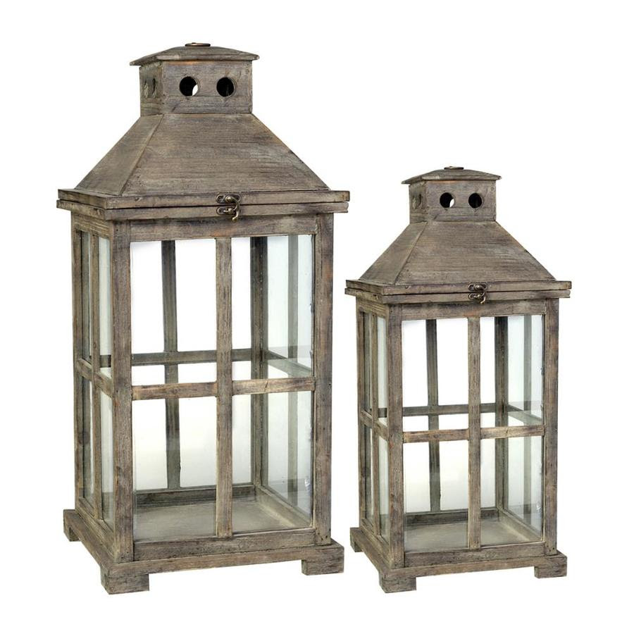 A B Home 11 5 In X 25 5 In Gray Glass Votive Candle Outdoor Decorative Lantern In The Outdoor Decorative Lanterns Department At Lowes Com