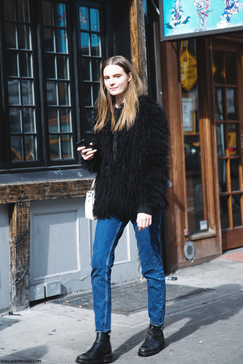 New_York_Fashion_Week-Street_Style-Fall_Winter-2015-Fur_Coat-Jeans-Vintage-Tilda_Lindstam-