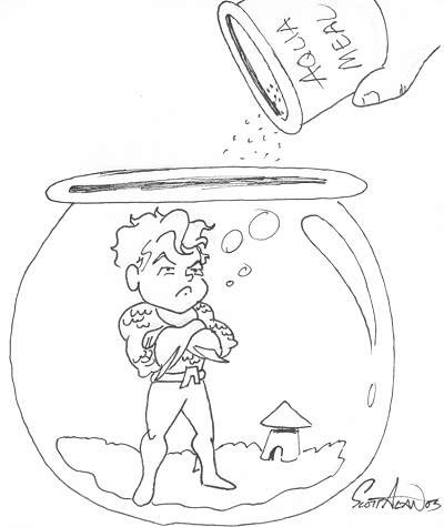 Aquaman Sketch by Scott Alan
