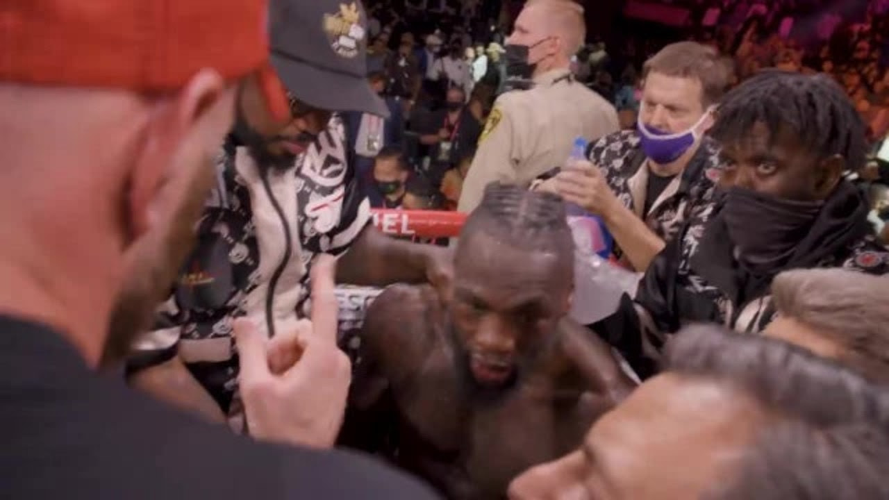 'Will never respect you': Incredible unseen footage reveals stunning post-fight Wilder-Fury clash
