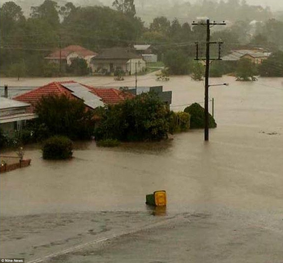 NSW Police said a woman and two men were located deceased within the Dungog township on Tuesday morning after a high number of emergency calls were made by people affected by dangerous weather conditions in the area