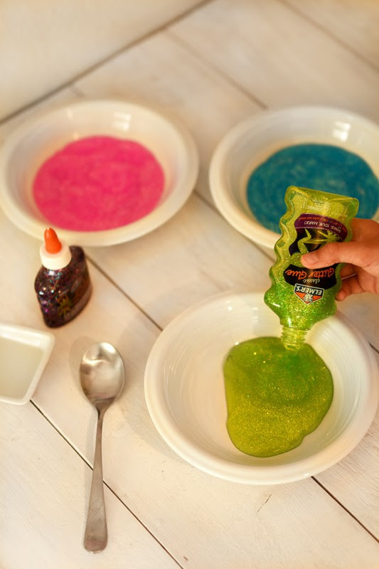 DIY Rainbow Slime