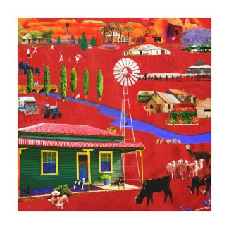 Red Rural Canvas zazzle_wrappedcanvas
