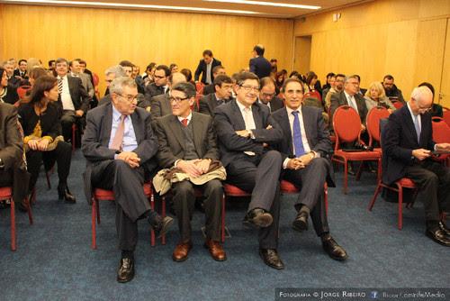 Carlos Magno Castanheira, João Calvão da Silva, Manuel Carlos Lopes Porto, António Pinto Monteiro. Colóquio sobre Direito e Comunicação Social - Problemas e Desafios