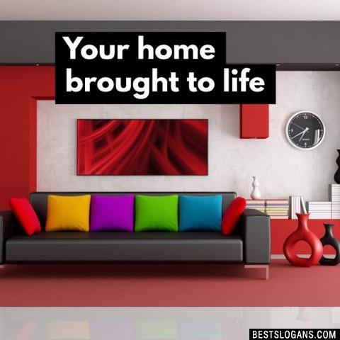 Famous 21 Home Decoration Tagline