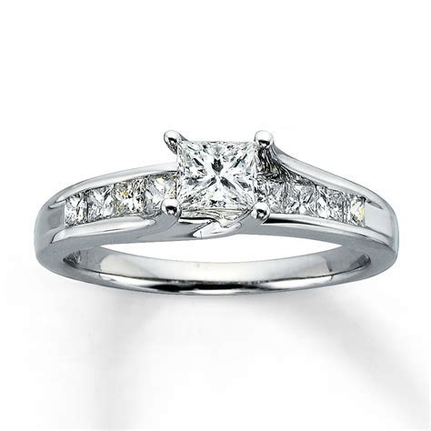 Jared   Diamond Engagement Ring 1 ct tw Princess cut 14K
