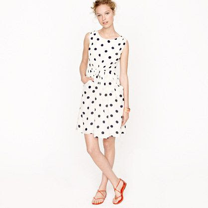 J.Crew Scatter Dot Dress