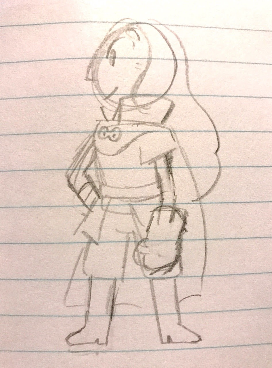 heres connie in my favorite outfit !!!! i have not drawn traditionally and actually fully lined or colored in such a long time