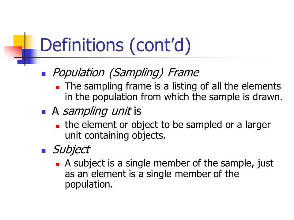 Define Sampling In Research Methodology