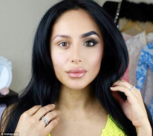 Transformation: Many women shared their snaps to hit back at those who had 'make up shamed' or accused them of wearing make up to please others