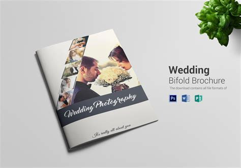 Wedding Photography Bi Fold Brochure Design Template in