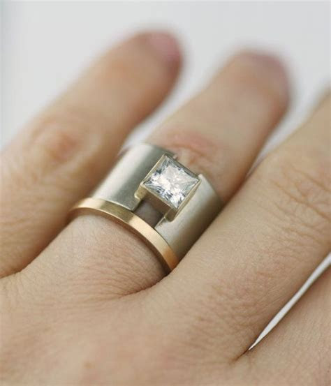Wedding band, wedding band, unique 14K gold, wide ring