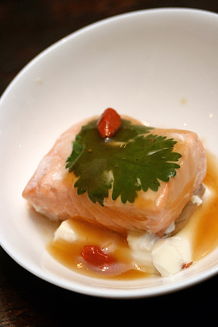 """Steamy Norwegian Salmon with Chinese Wolfberries"" by Koh Chieng Mun"