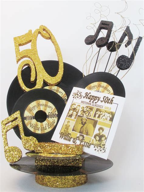 """50th anniversary motown centerpiece   60""""s party"""