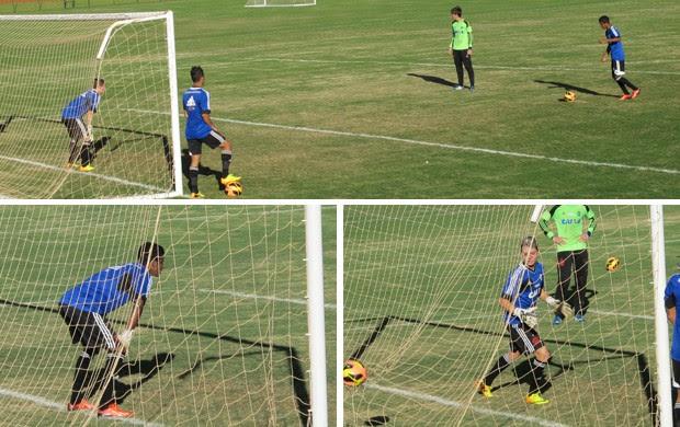 Gabriel Adryan treino Flamengo (Foto: Richard Souza)