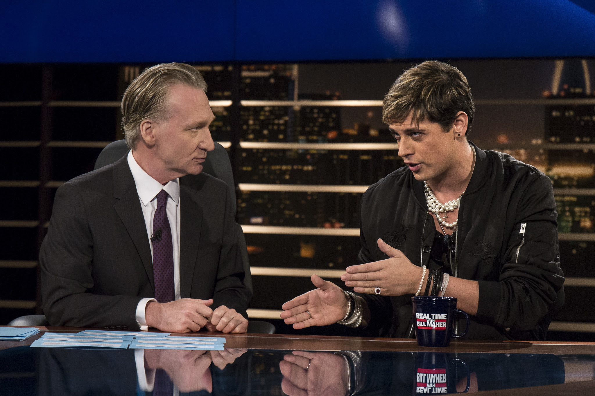 Image result for Milo on Bill Maher