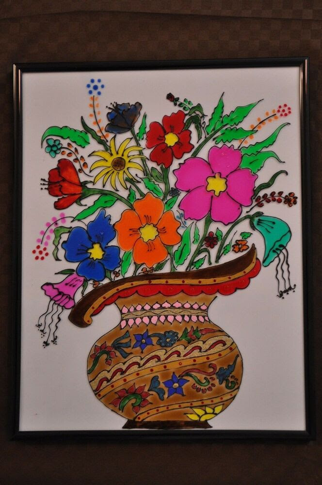 USHA SRIKUMAR'S MUSINGS...: A BUNCH OF FLOWERS -A STAINED ...