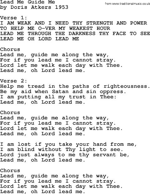 Lead Me Guide Me Lyrics