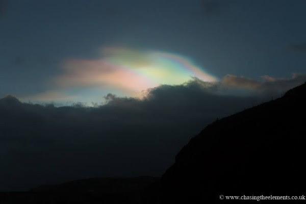 John Fagan caught these nacreous clouds over Ireland this week.