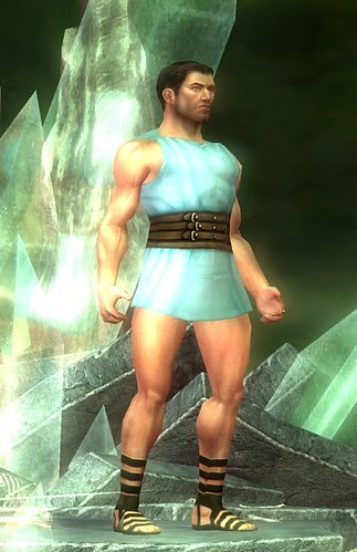 male character with no armor