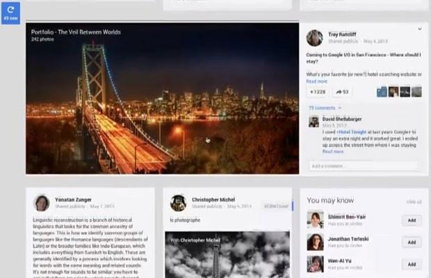 Imagem do novo perfil do Google+, rede social da empresa de buscas (Foto: Reprodução)