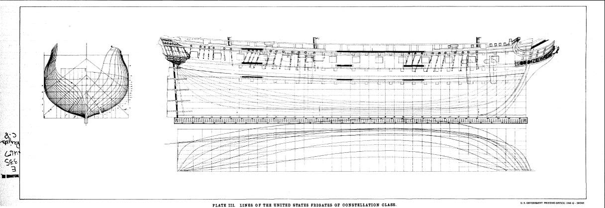USS Constellation/Congress plans 1812 - Ships plans and Project
