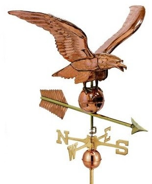 Good Directions 34 in. Smithsonian Eagle Weathervane - Polished ...
