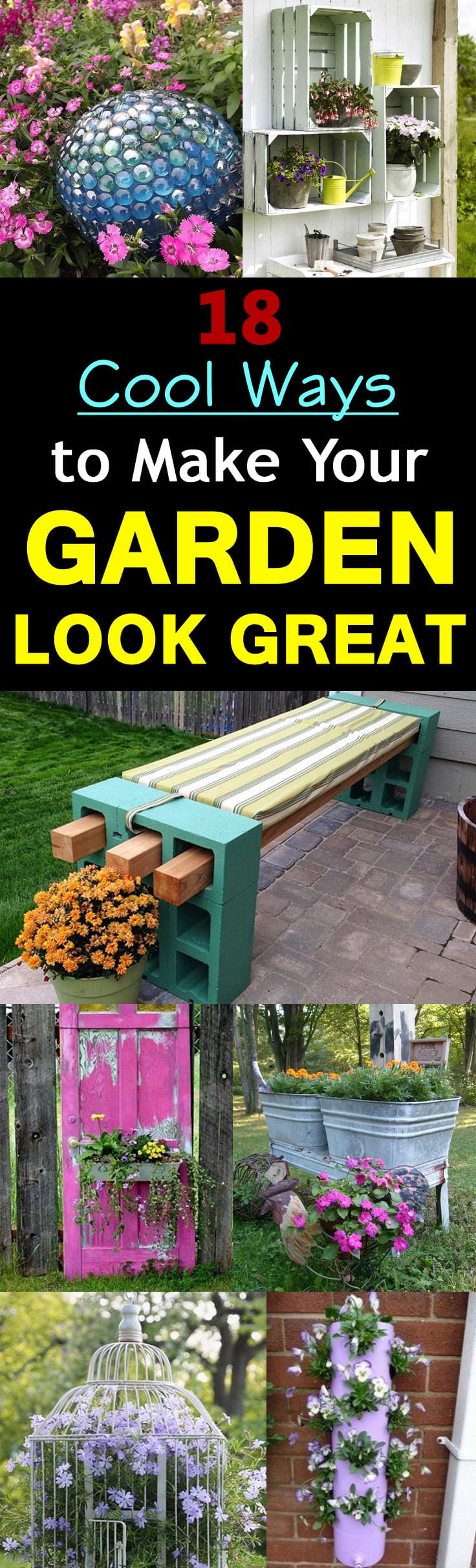 18 Cool DIY Ideas To Make Your Garden Look Great   Balcony ...