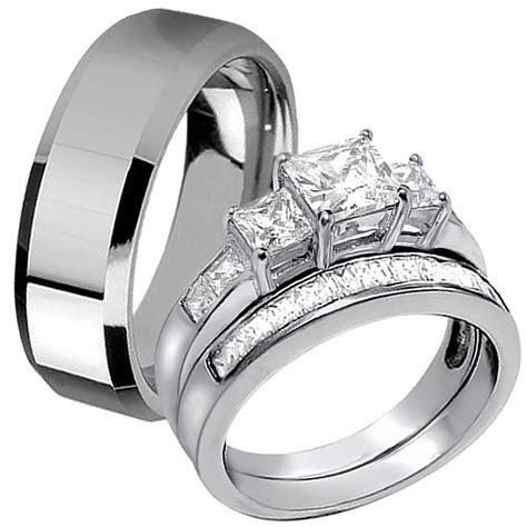 Best Of Stainless Steel Wedding Rings for Her   Matvuk.Com