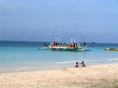 Trigger boat at Station 1, Boracay