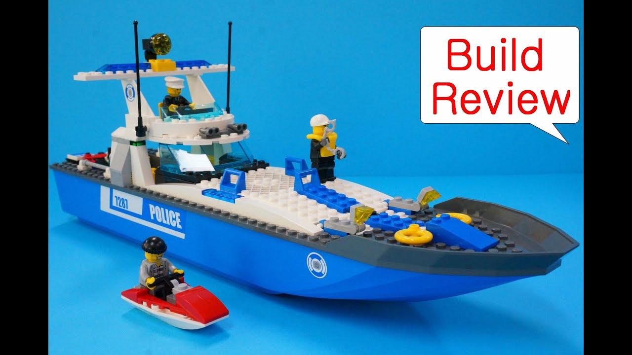 Lego Police 7287 Police Boat - Stop-motion Build - YouTube