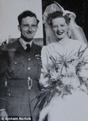 The couple got married in her home city of Norwich at the height of the Second World War