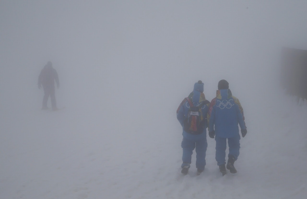 First record warmth.. and now this: Fog envelops Sochi..