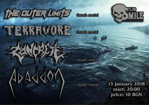 Thrash/Death инвазия във Варна на 13 януари