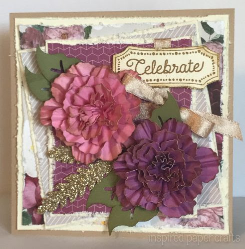 #CTMHLiveBeautifully - Celebrate Card- Inspired Paper Crafts - Watermarked