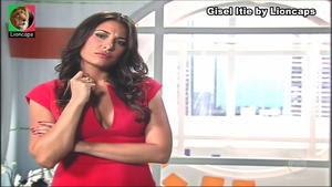 Gisel Itie sensual na novela Bela a Feia