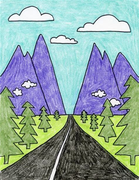 draw perspective landscape kids art classes