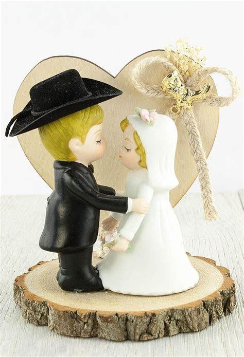 Western Cowboy Wedding Cake Topper