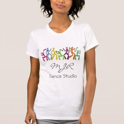 Monogram, Dance Studio, Zany Dancers Motif Shirts