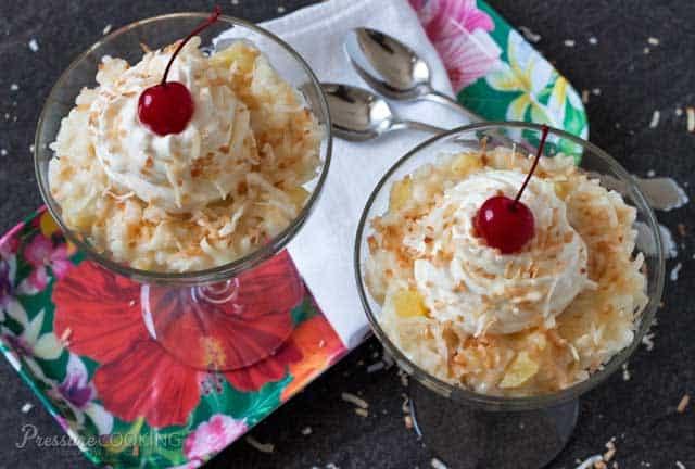 Pressure Cooker Pina Colada Rice Pudding - Pressure ...