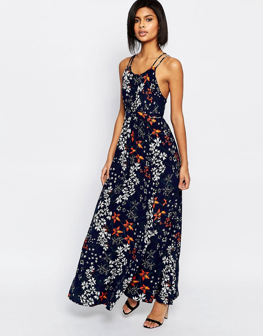 Image 1 of Whistles Bluebell Gathered Maxi Dress