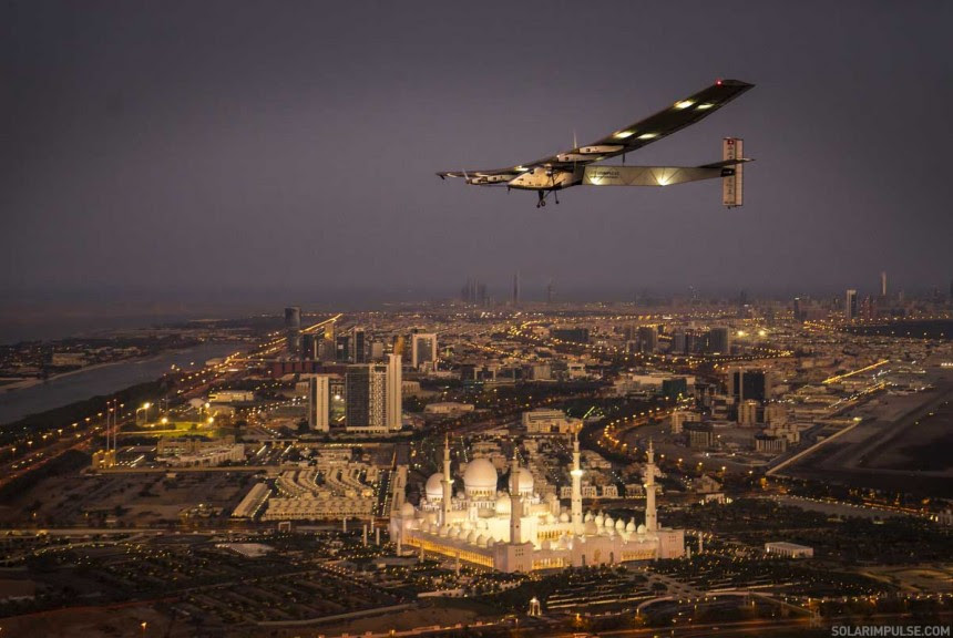 Bertand's first flight test in Abu Dhabi | Solar Impulse | Revillard | rezo.ch