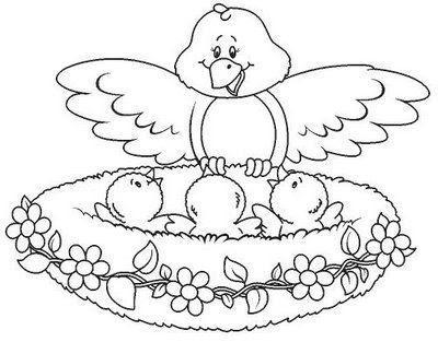 Dibujos De Pajaritos Para Imprimir - Fandango De Pajaros Para Colorear Alec Dempster