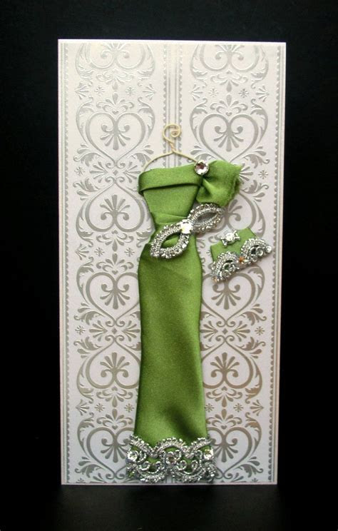 Jade Personalized Dress Card / Handmade Greeting Card
