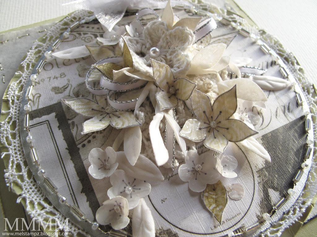 Caardvarks Best Wedding Card challenge Bouquet card CLOSE mel stampz