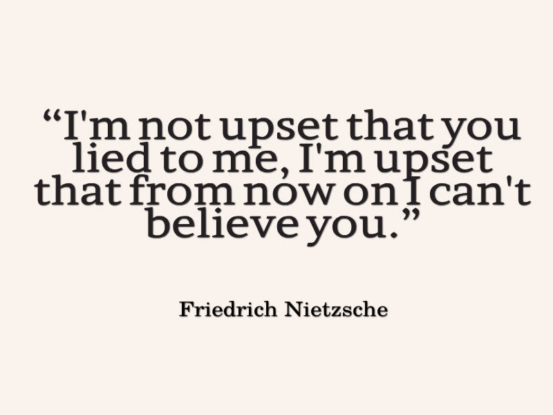 Friedrich Nietzsche Quote About Lying Awesome Quotes About Life