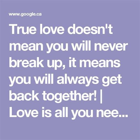 Imágenes De Breaking Up And Getting Back Together Quotes