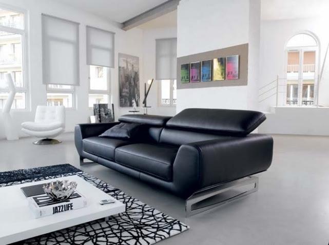 Emejing Salon Cuir Noir Decoration Contemporary - House ...