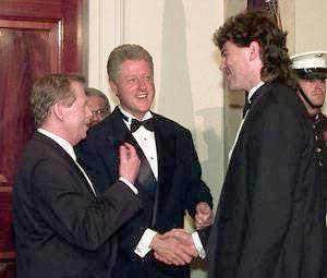 Havel, Clinton and Jagr, Havel, Clinton and Jagr